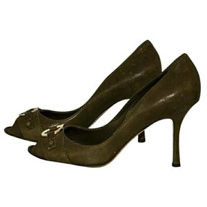 Christian Dior brown leather heels